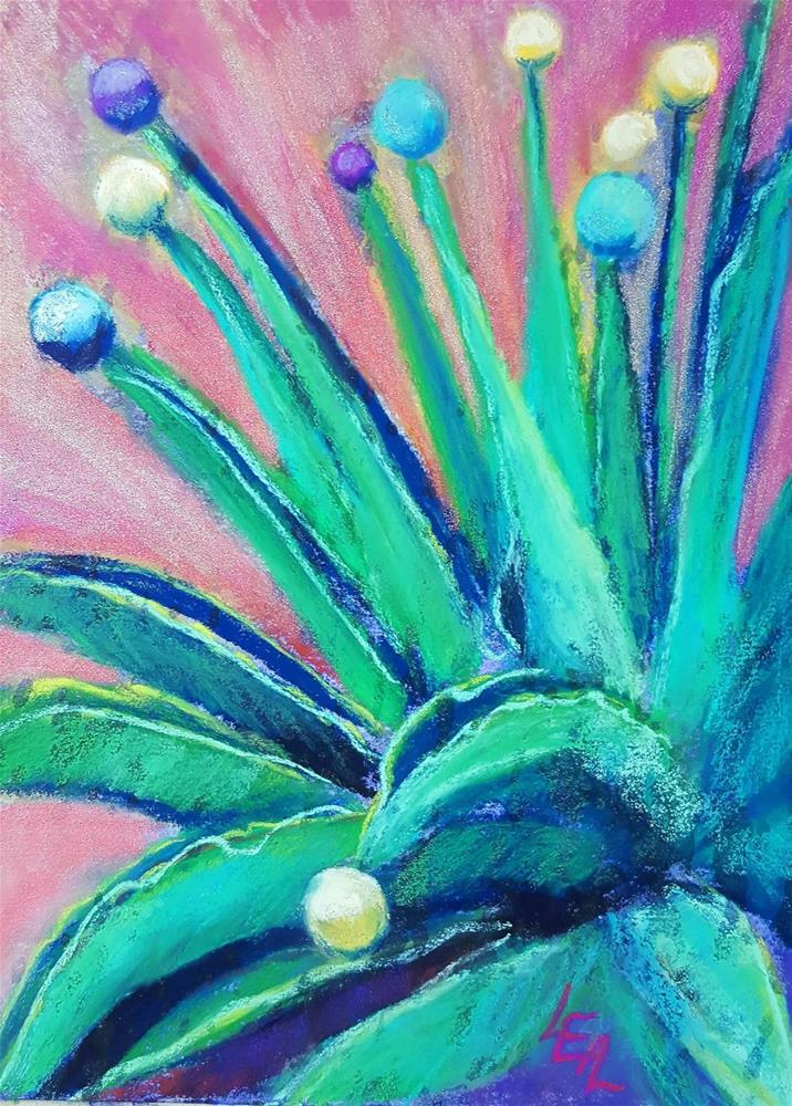 """Jolly Green Agave"" original fine art by Anna Lisa Leal"