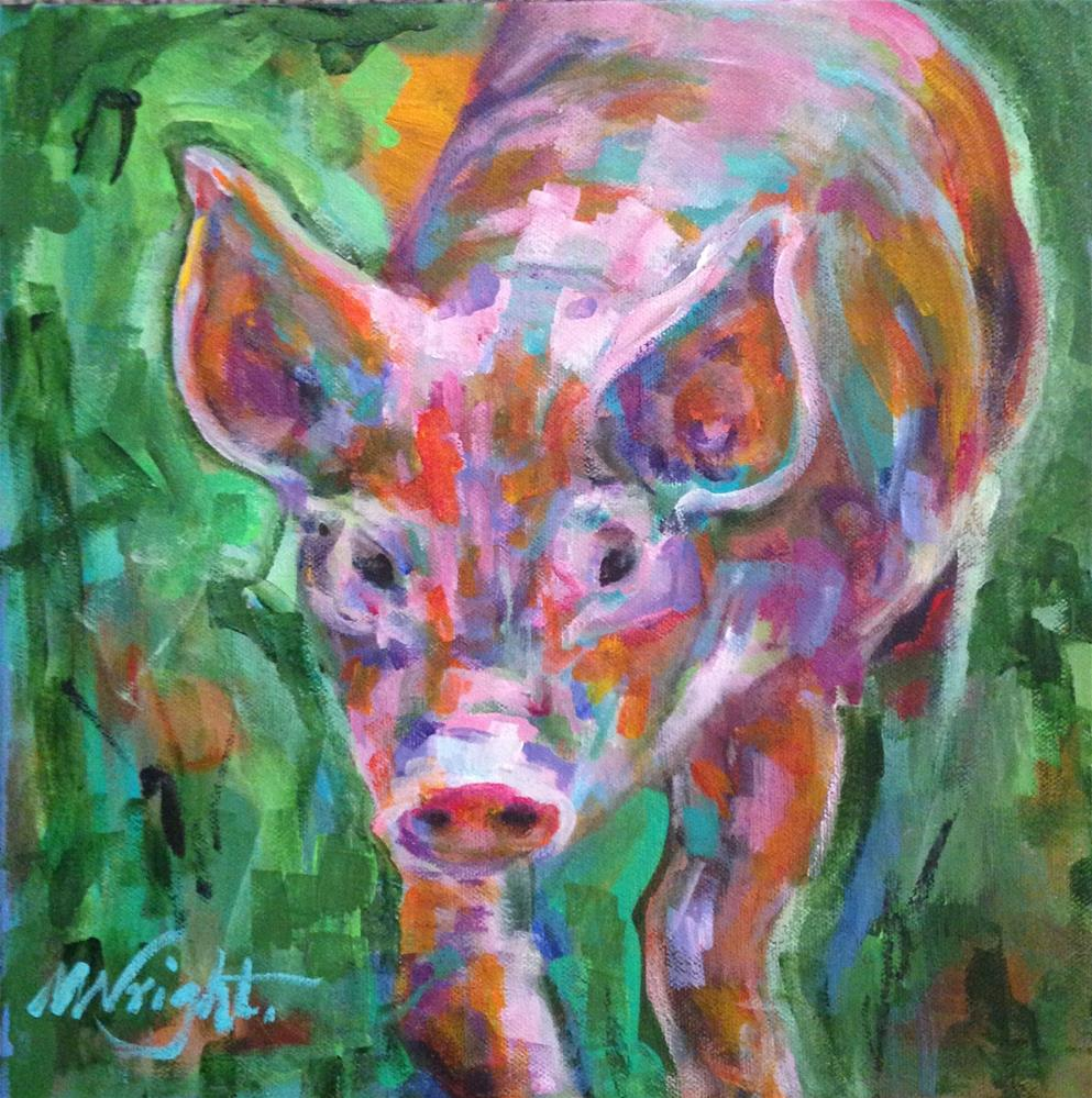 """Piglet"" original fine art by Molly Wright"
