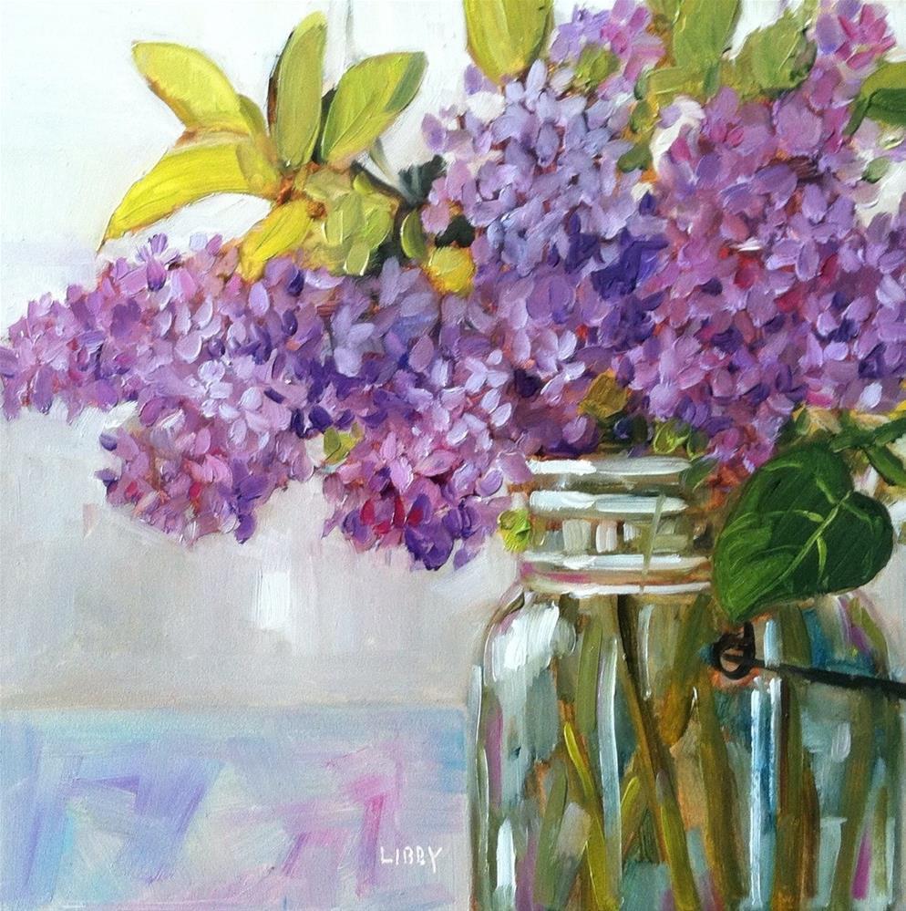 """Lilac and Leaves"" original fine art by Libby Anderson"