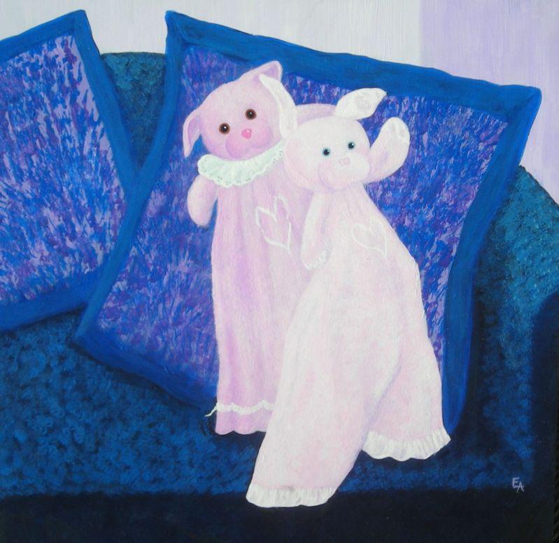 """Boo Boo Bears"" original fine art by Elizabeth Elgin"
