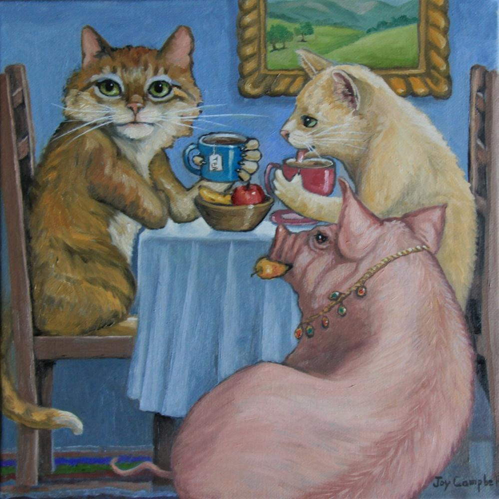 """Tea Time"" original fine art by Joy Campbell"