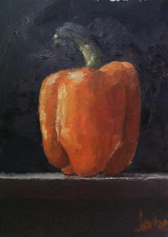 """Orange Bell Pepper"" original fine art by Richard Jones"