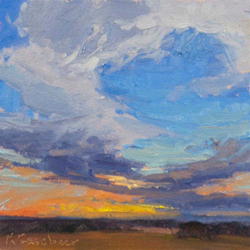 """Sunset Series No. 2"" original fine art by Kim Casebeer"