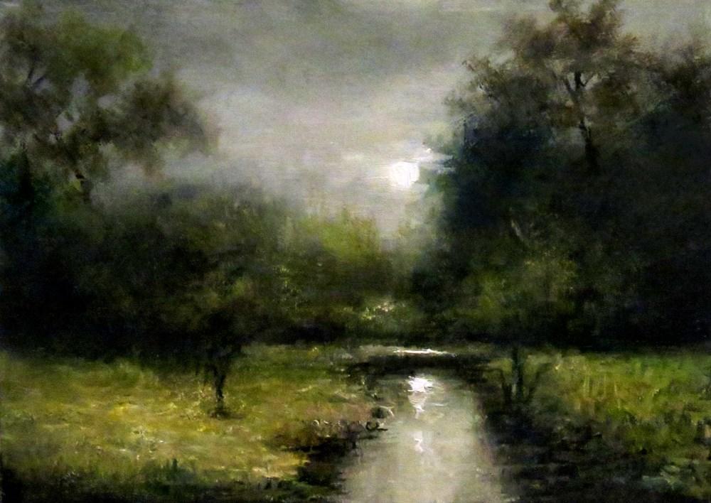 """River Glow"" original fine art by Bob Kimball"