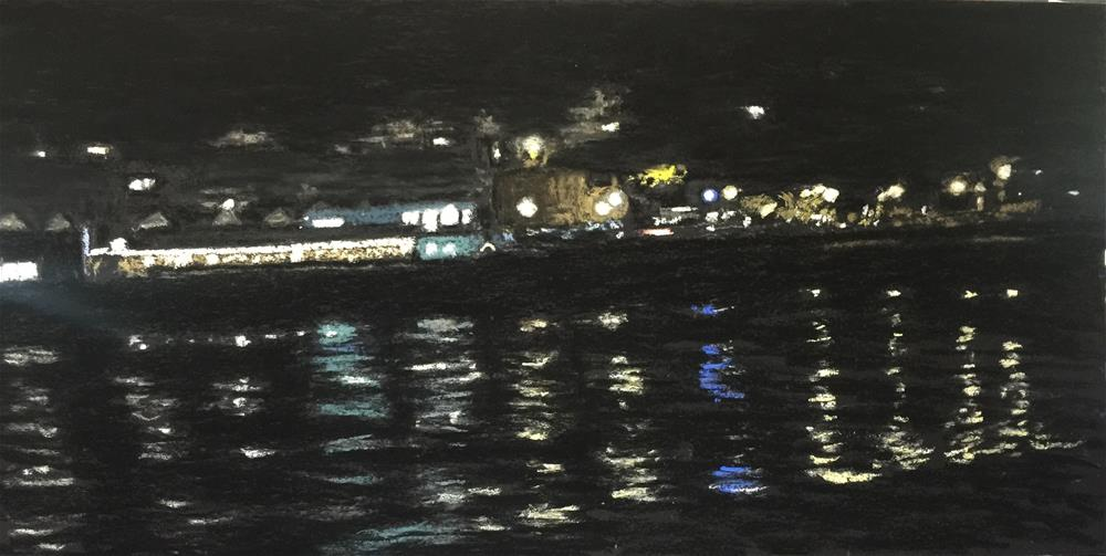"""CAPITOLA NOCTURNE"" original fine art by Marti Walker"