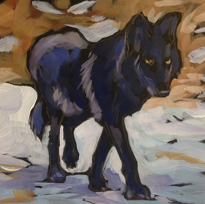 """Wolf Walk"" original fine art by Kat Corrigan"