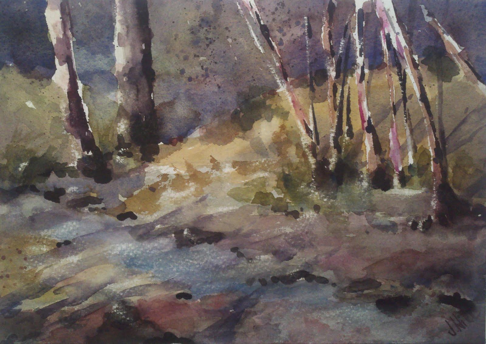 """Summer en Plein Aire #3"" original fine art by Julie Hill"