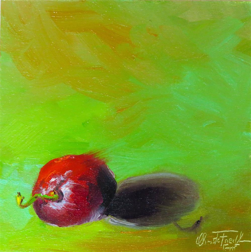 """One Grape left over"" original fine art by Christa Friedl"