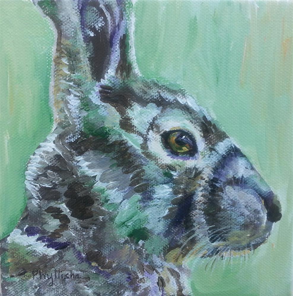 """Hare"" original fine art by Phyllisha Hamrick"