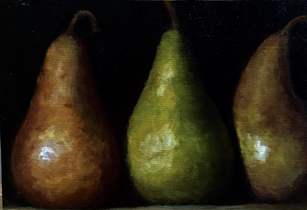 """Pears"" original fine art by max moss"