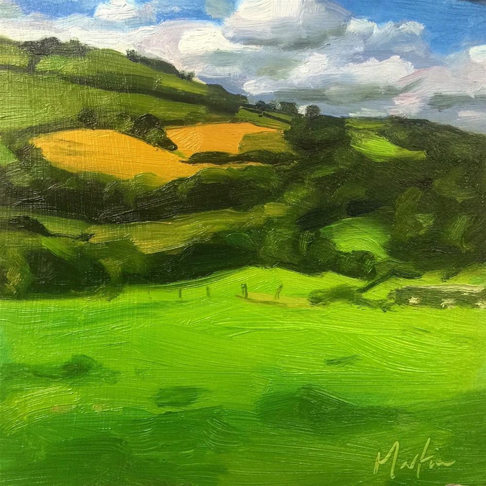 """Green and pleasant land"" original fine art by Chris Martin"