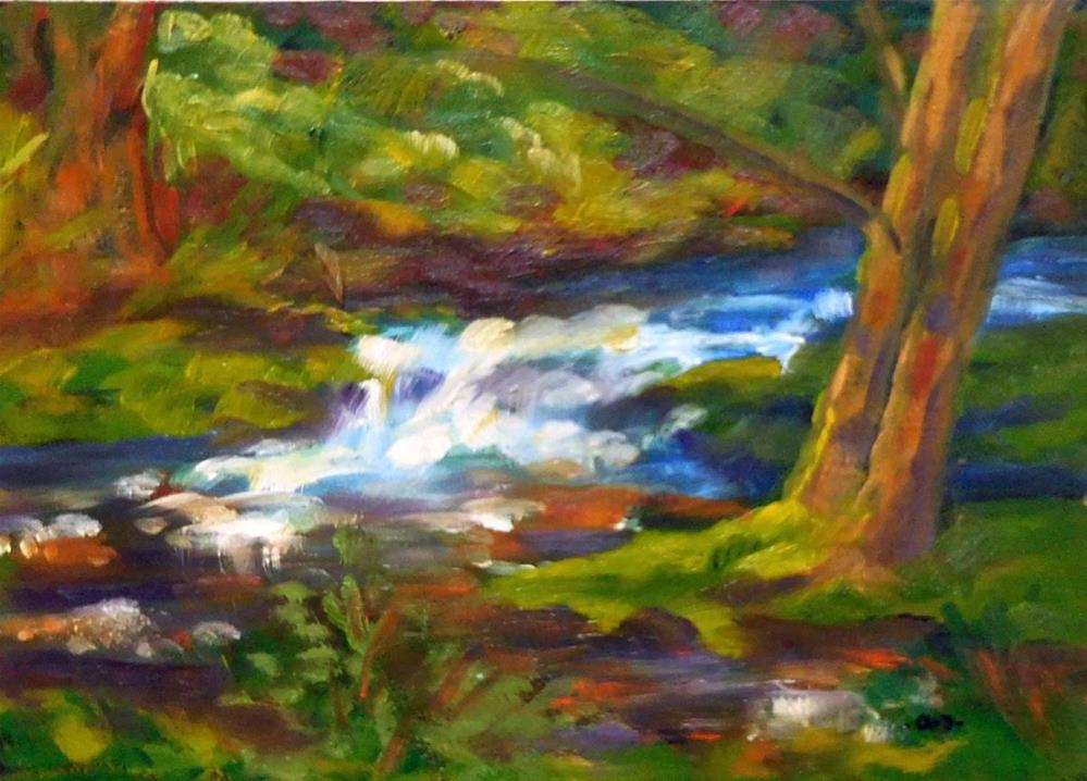 """Small Falls"" original fine art by Cietha Wilson"