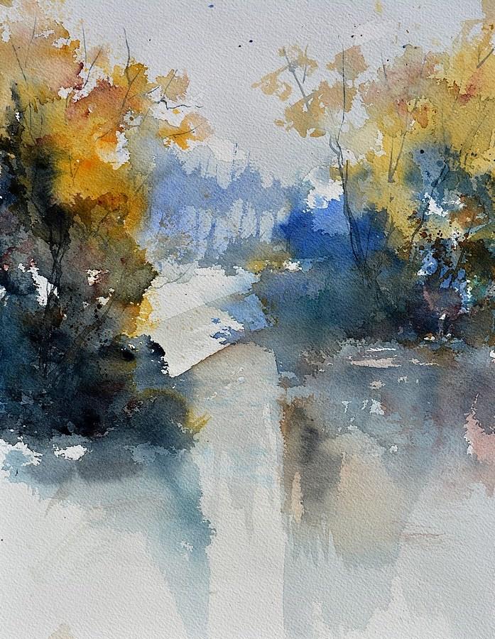 """""""watercolor 513003"""" original fine art by Pol Ledent"""