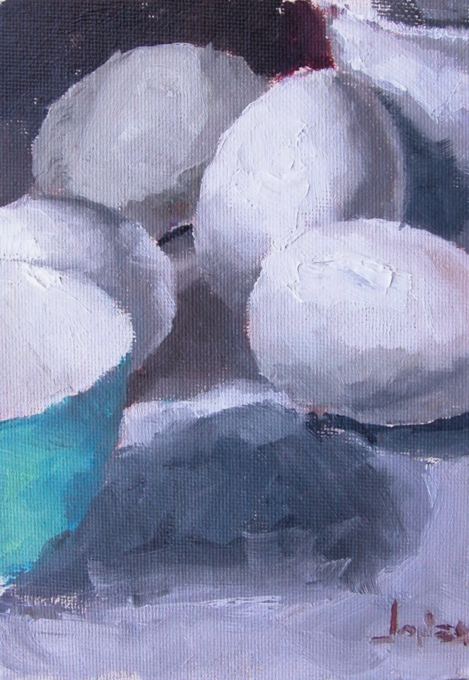 """Extra Large Eggs"" original fine art by Richard Jones"