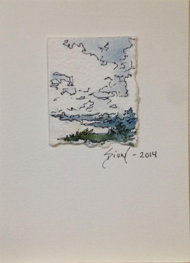 """Miniature Landscape #9"" original fine art by Sue Dion"