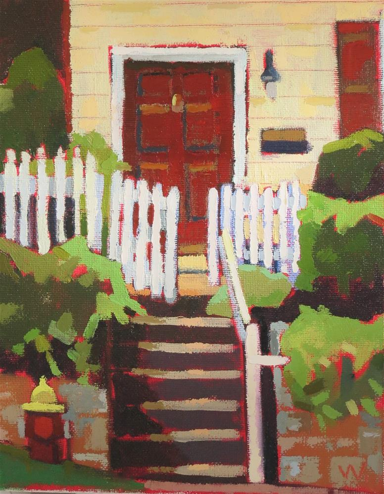 """St James House"" original fine art by Joan Wiberg"