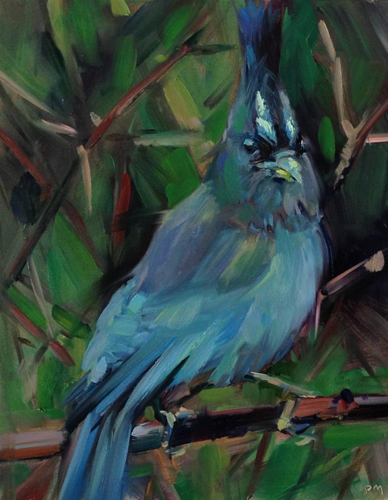 """The Stellar Steller Mohawk"" original fine art by Patti McNutt"