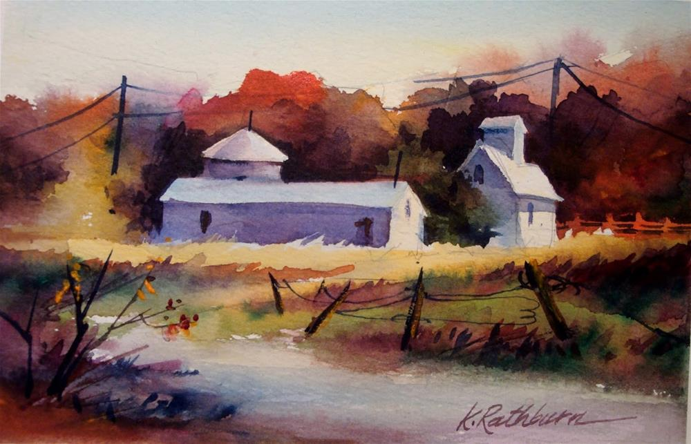 """Two Miniature Fall Landscapes"" original fine art by Kathy Los-Rathburn"