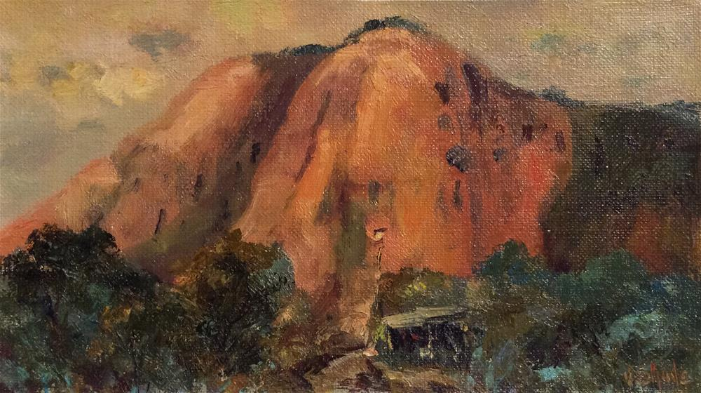 """Kata Tjuka or Mount Olga"" original fine art by John Shave"