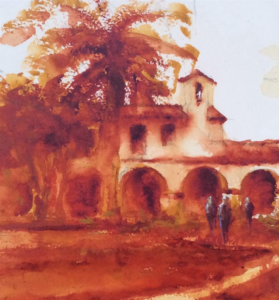 """Mission at San Juan Capistrano"" original fine art by Katharine Engh"