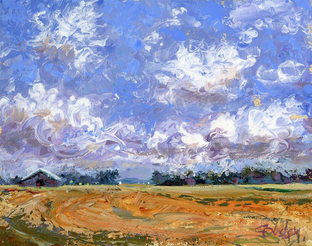 """""""May Clouds"""" original fine art by Chris Ousley"""