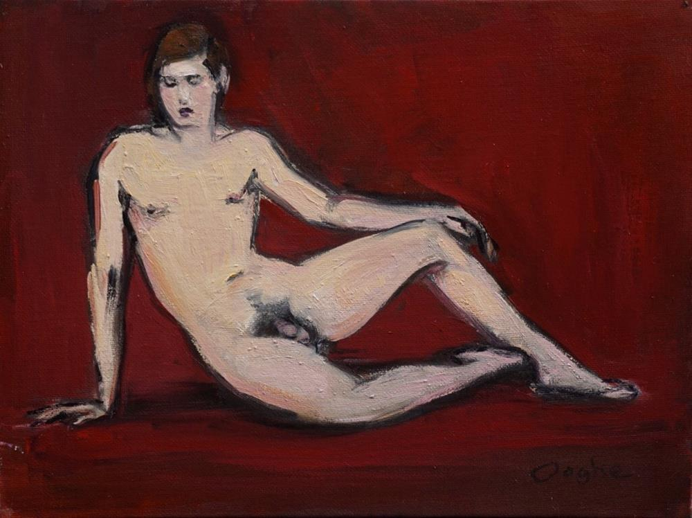 """Man on Red"" original fine art by Angela Ooghe"