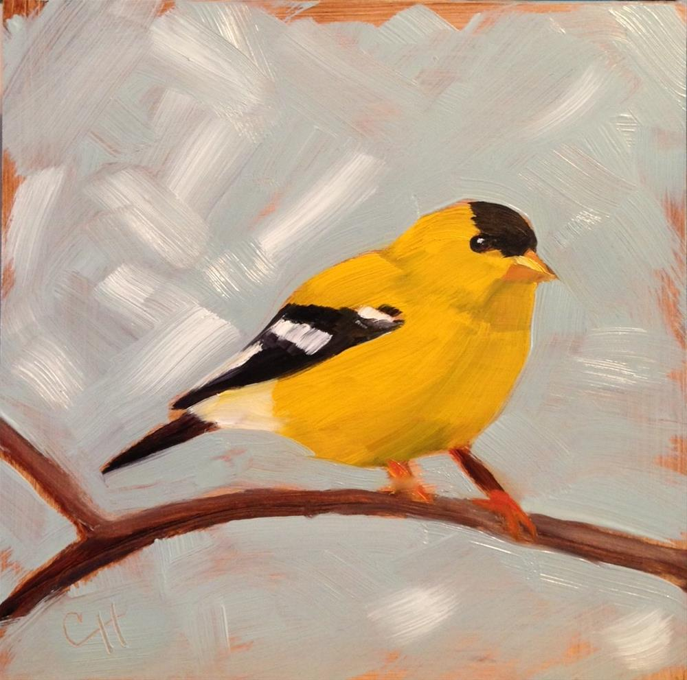 """Goldfinch"" original fine art by Claire Henning"
