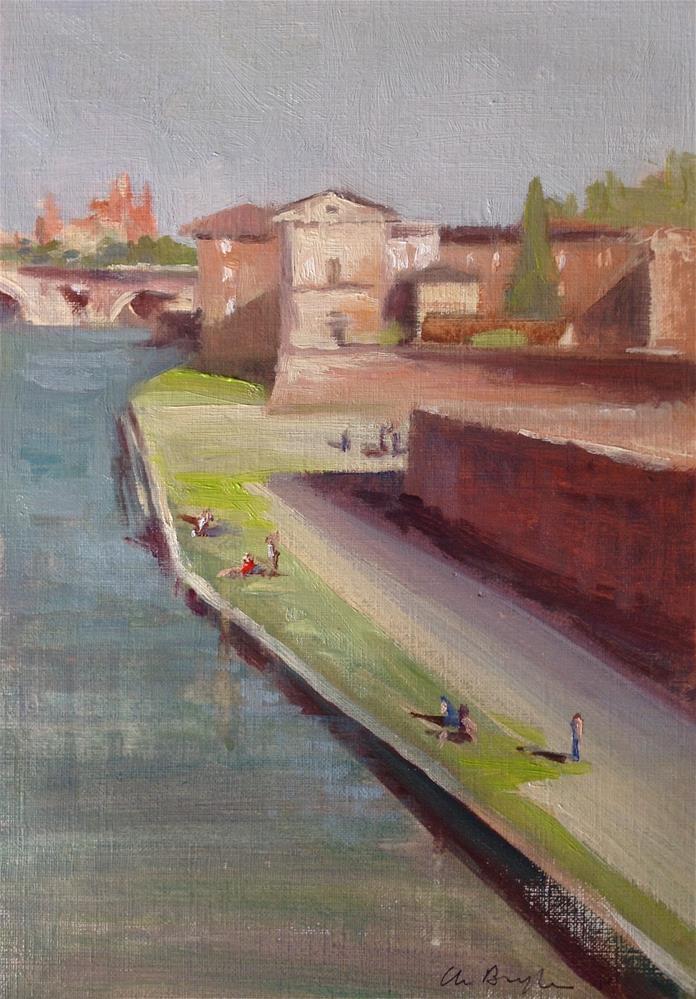 """""""Le quai Viguerie"""" original fine art by Christine Bayle"""