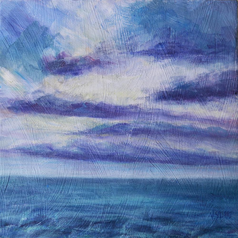 """Before storm"" original fine art by Véronique Saudez"