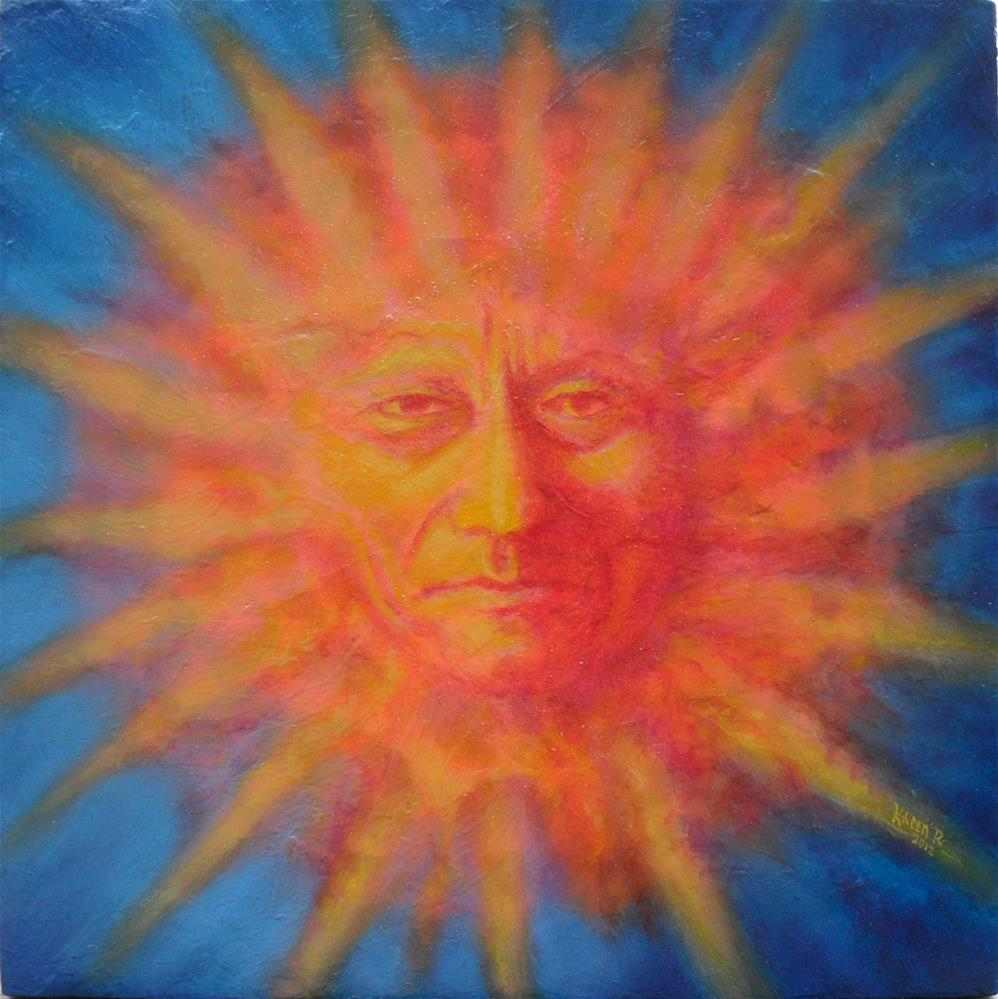 """Sitting Sun"" original fine art by Karen Roncari"