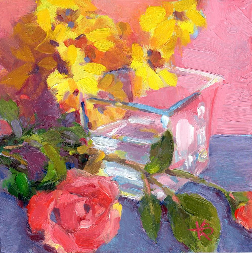 """Vase Dispaly"" original fine art by Kathy Bodamer"