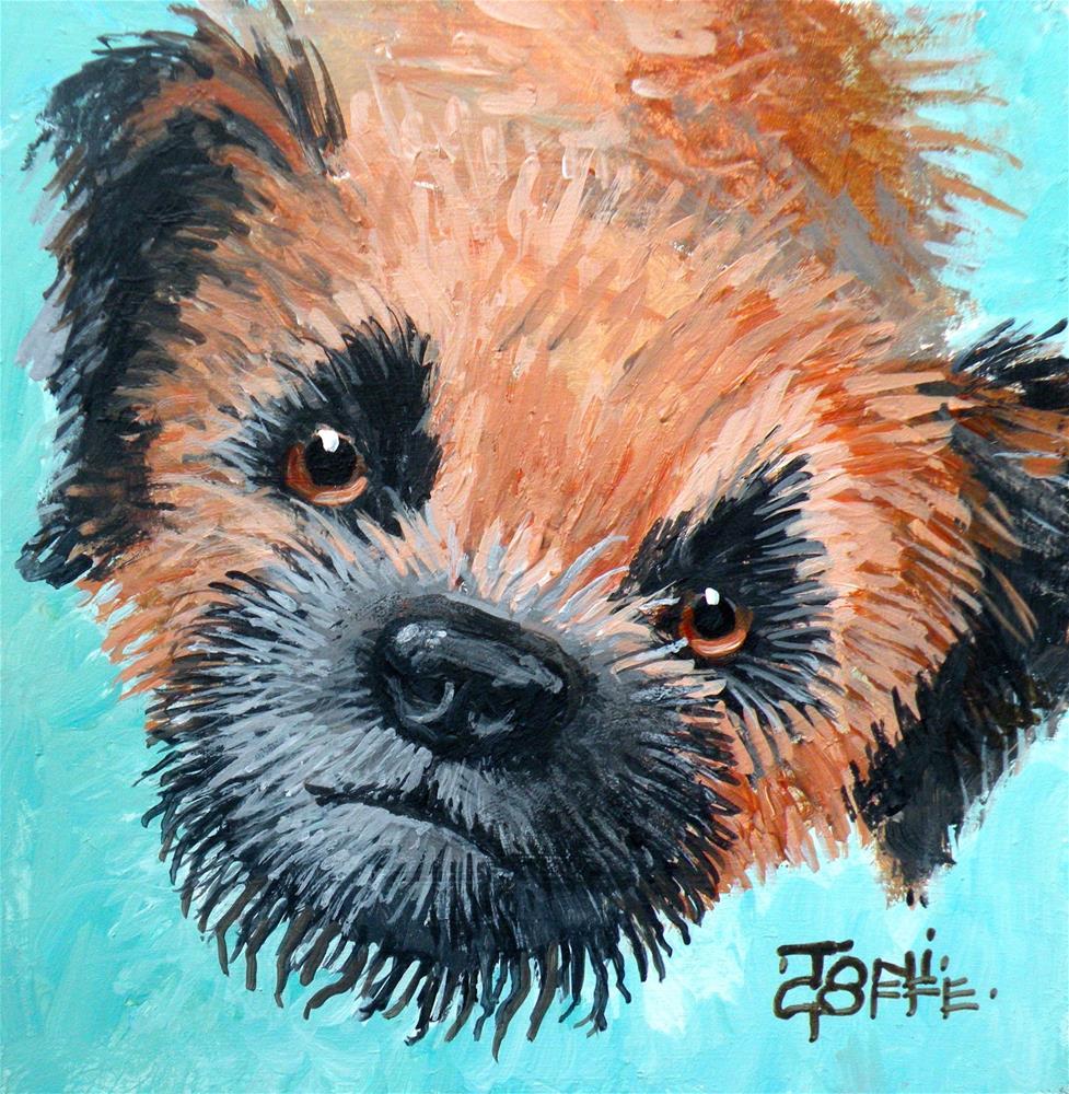 """Buddy"" original fine art by Toni Goffe"