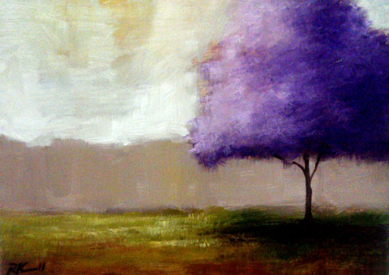 """The Lilac Tree"" original fine art by Bob Kimball"