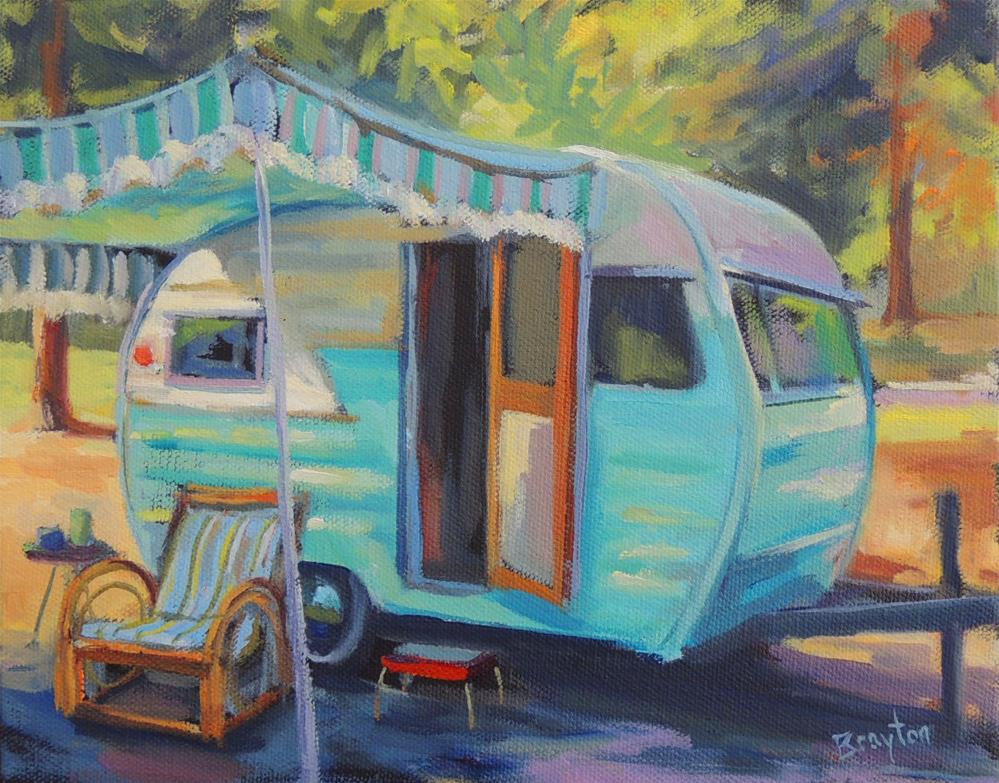 """Living Green"" original fine art by Wendy Brayton"