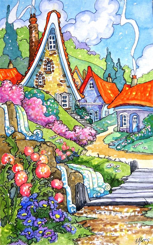 """Springtime in the Village"" original fine art by Alida Akers"