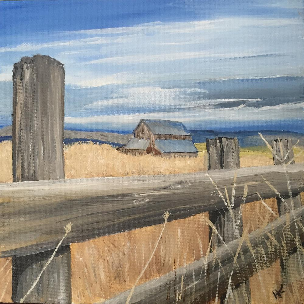 """Fenced In II"" original fine art by Helen Kuhn"