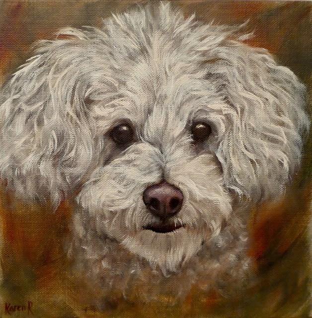"""A paintable pooch"" original fine art by Karen Robinson"