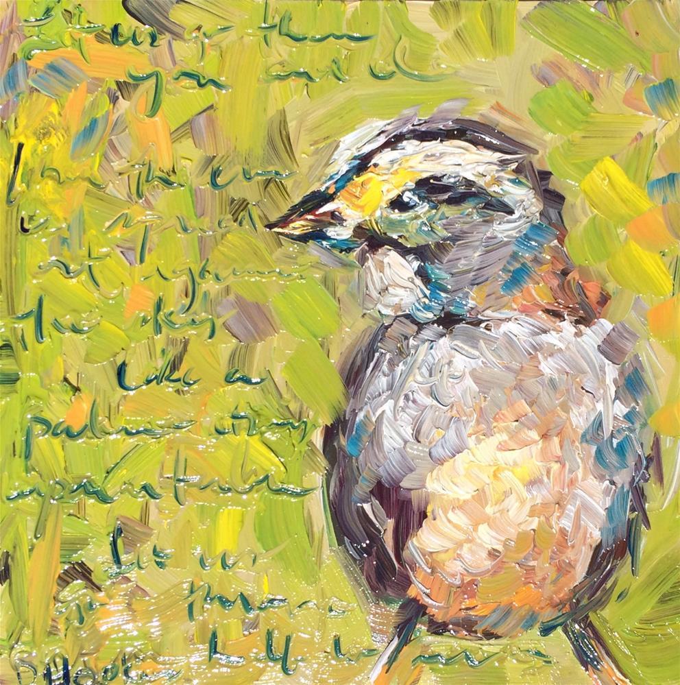 """City Park Sparrow"" original fine art by Denise Hopkins"