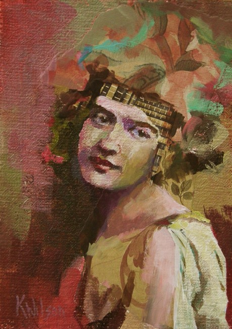 """Head Band and Frock"" original fine art by Katie Wilson"