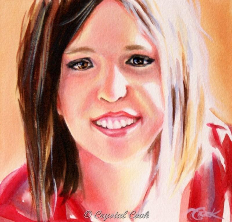 """Taylor"" original fine art by Crystal Cook"