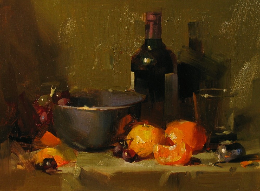 """Demo at Carmel 2013 1"" original fine art by Qiang Huang"