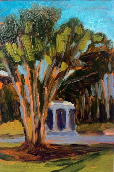 """Campus Green"" original fine art by Mary Gilkerson"