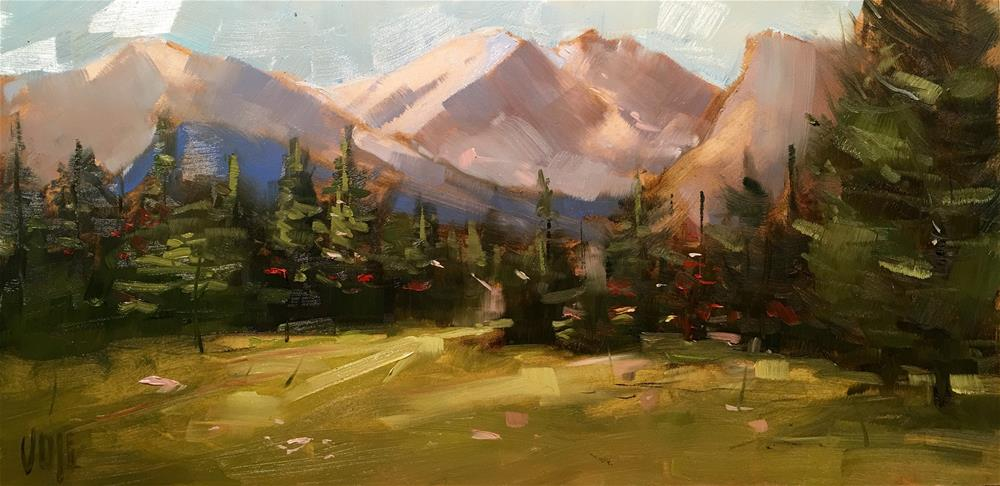 """#353 The Rockies"" original fine art by Patty Voje"