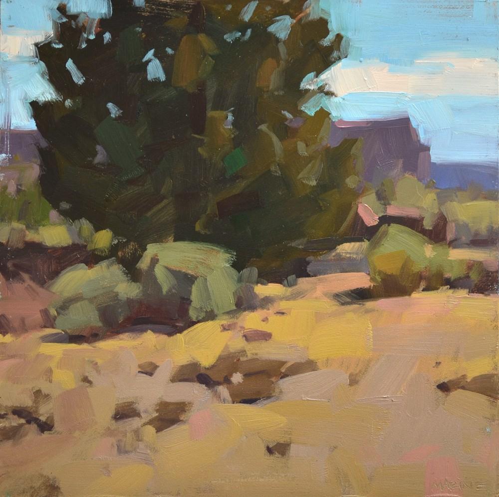 """Juniper and Cliffs"" original fine art by Carol Marine"