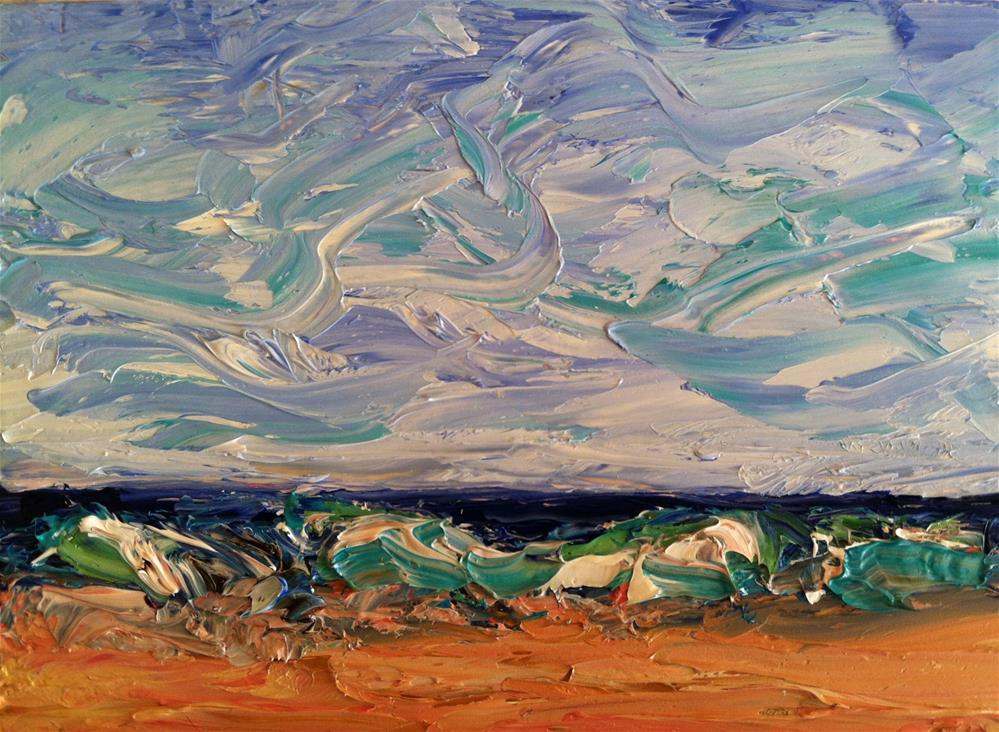 """Sea"" original fine art by Christine Parker"