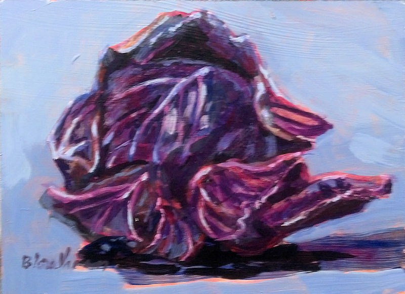 """cabbage"" original fine art by Linda Blondheim"