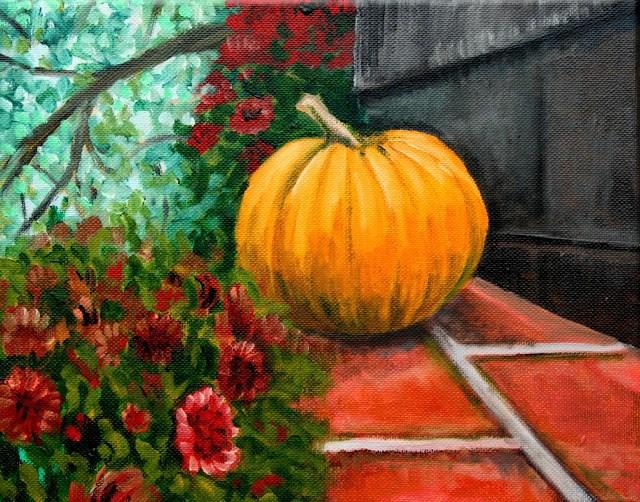 """A taste of Autumn"" original fine art by Hilary J. England"