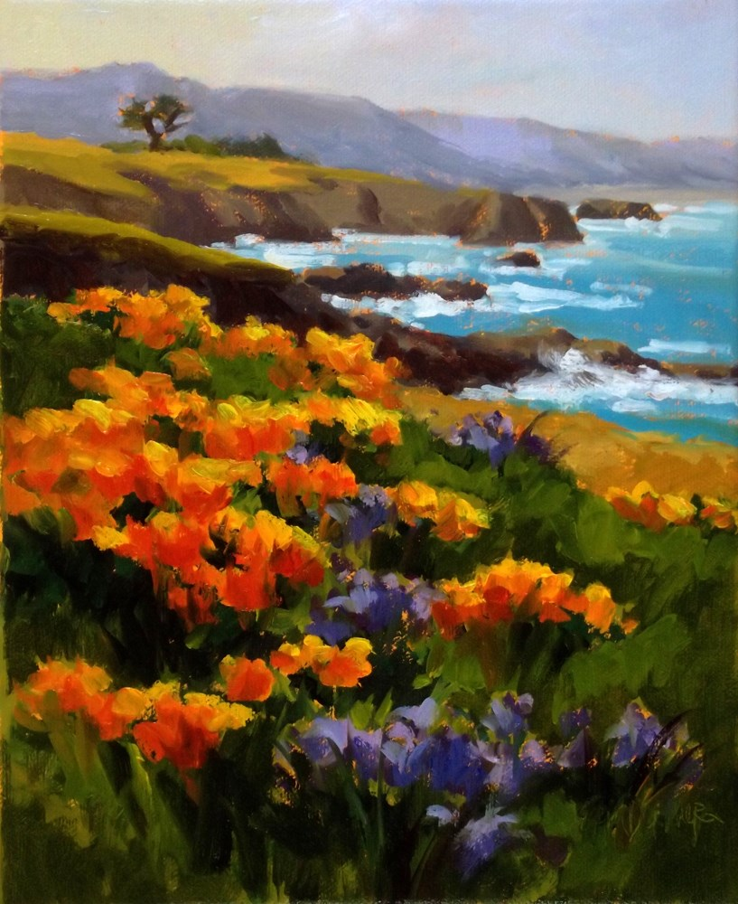"""Poppies a'Plenty"" original fine art by Erin Dertner"