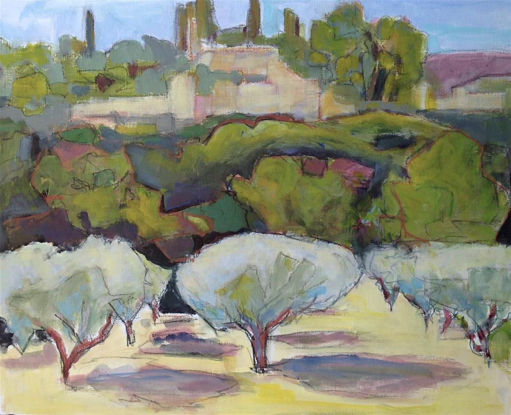 """Oppede-Le-Vieux Olive Grove"" original fine art by Patricia MacDonald"