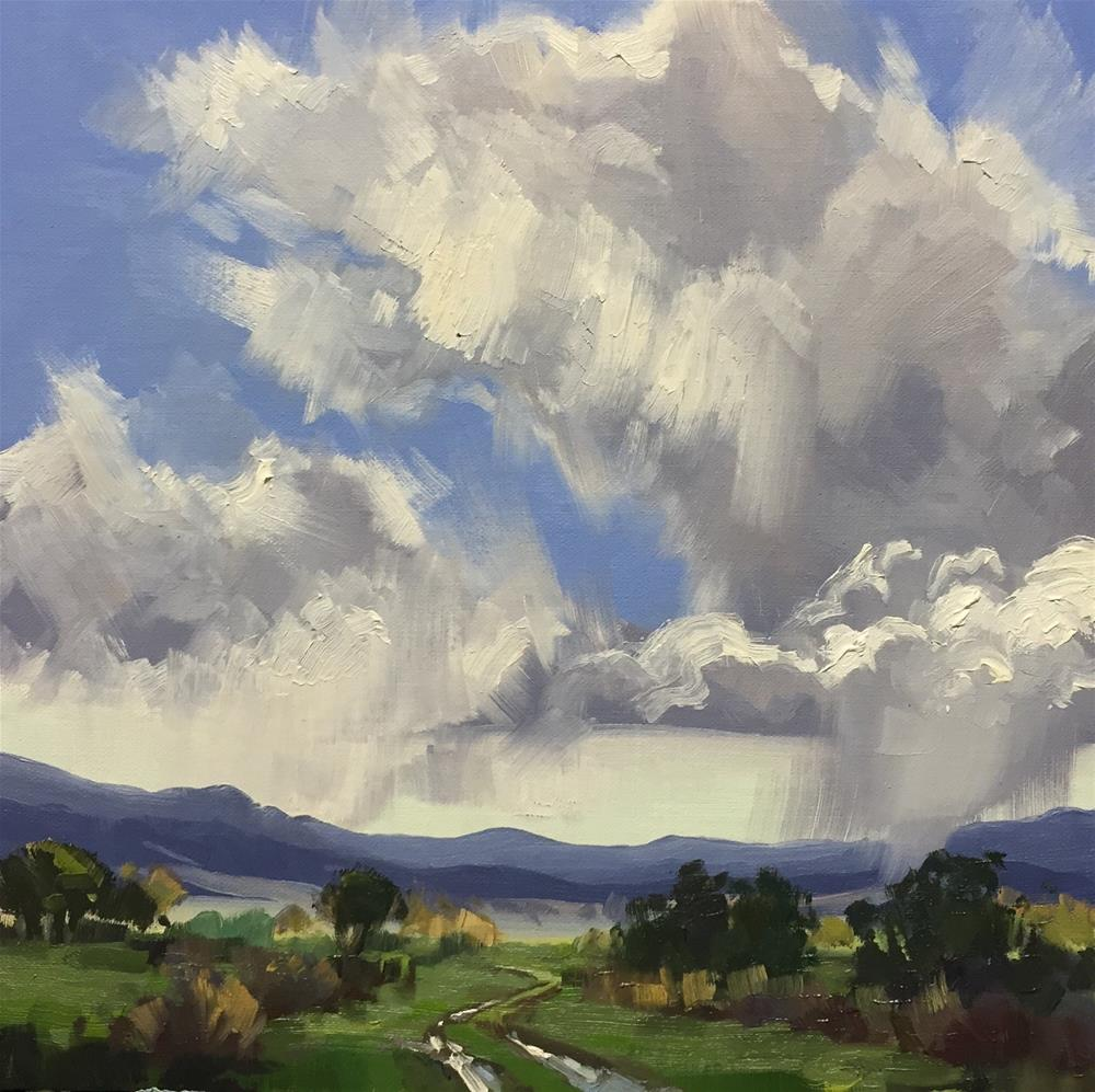 """Hail Storms on the Horizon"" original fine art by Mary Jabens"